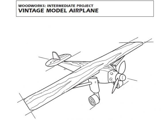 Clasimex.com Vintage Model Airplane - Modelo de Aeroplano Retro Wood Topics