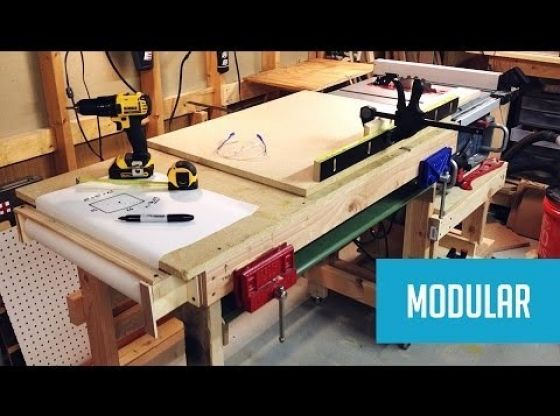 Clasimex.com Modular Mobile Table Saw Station Part 2 Wood Topics