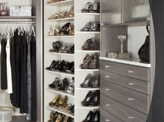 Nuevos dise os de closets closets new designs for Diseno zapateras para closet
